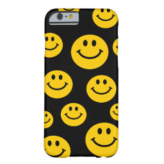 Gelber Smiley Barely There iPhone 6 Hülle