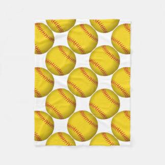 Gelber Softball Fleecedecke