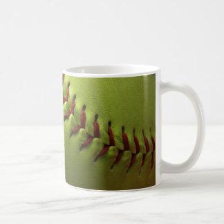 Gelber Softball Kaffeetasse