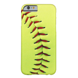 Gelber Softballball Barely There iPhone 6 Hülle