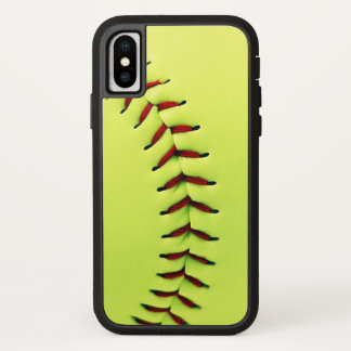 Gelber Softballball iPhone X Hülle
