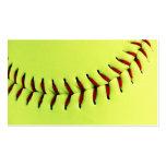 Gelber Softballball Visitenkarten