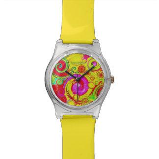 """Gelber Sommer "" Armbanduhr"