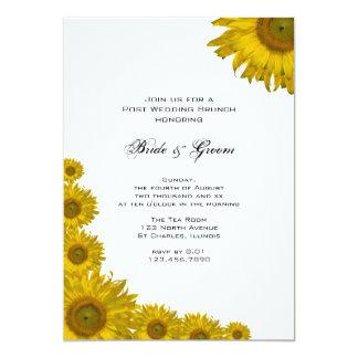 Gelber Sonnenblume-Rand-Posten-Hochzeits-Brunch 12,7 X 17,8 Cm Einladungskarte