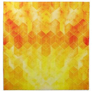 Gelber Sonnendurchbruch-geometrischer Serviette