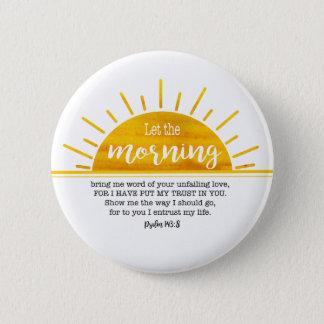 Gelber Sun-Psalm Runder Button 5,7 Cm