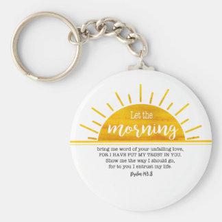 Gelber Sun-Psalm Schlüsselanhänger