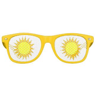 Gelber Sun-Sonnenschein-sonnige Retro Sonnenbrillen