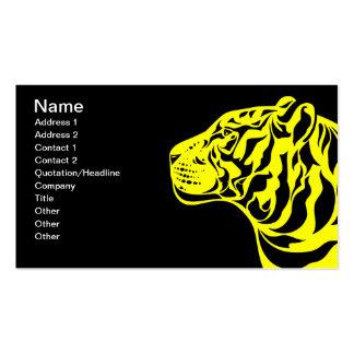 Gelber Tiger Visitenkarte