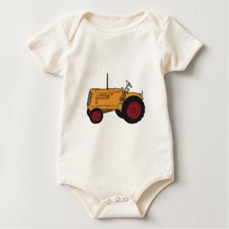 Gelber Traktor Baby Strampler