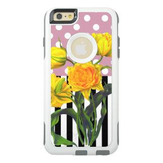 gelber Tulpe-Tupfen OtterBox iPhone 6/6s Plus Hülle
