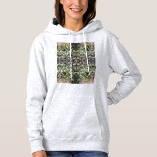 Gelber u. orange Blumen-FraktalHoodie (Asche) Hoodie