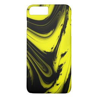 Gelber u. schwarzer Marmor iPhone 8 Plus/7 Plus Hülle