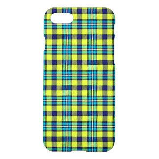 Gelber und blauer Tartan iPhone 8/7 Hülle