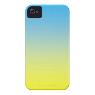 Gelber und des Blau-zwei Ton iPhone 4 Hüllen