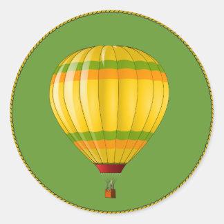 Gelber und grüner Heißluft-Ballon Sticker