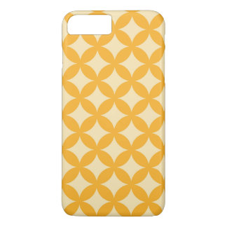 Gelber und orange Geocircle Entwurf iPhone 8 Plus/7 Plus Hülle