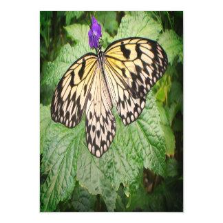 Gelber und schwarzer Schmetterling Magnetische Karte
