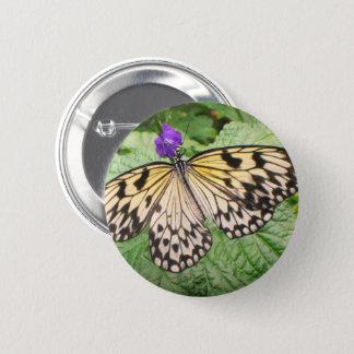Gelber und schwarzer Schmetterling Runder Button 5,1 Cm