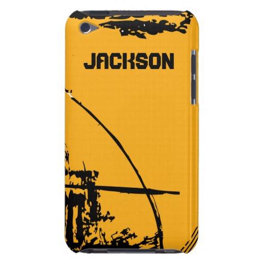 Gelber und schwarzer Straßen-Schmutz iPod Touch Cover