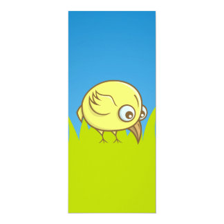 Gelber Vogel-Cartoon 10,2 X 23,5 Cm Einladungskarte