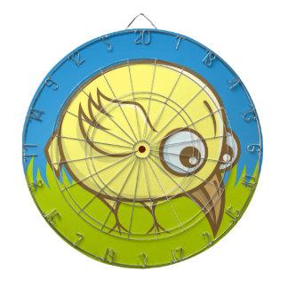 Gelber Vogel-Cartoon Dartscheibe