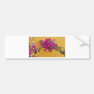 Gelber Wand-Rosa-Blumen-Bogen-Sonnenschein Autoaufkleber