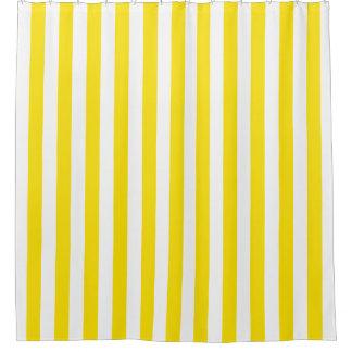 Gelber weißer vertikaler Streifen NL #0 Duschvorhang