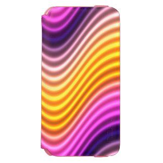 Gelber Wellen-Kasten Incipio Watson™ iPhone 6 Geldbörsen Hülle