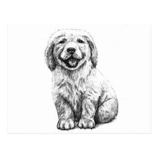 Gelber Welpen-Labrador Postkarte