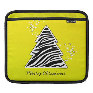 Gelber Zebra-Weihnachtsbaum Sleeve Für iPads