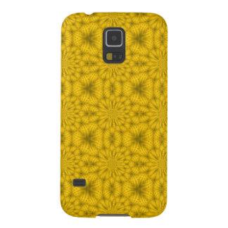 Gelbes abstraktes hölzernes Muster Galaxy S5 Hülle