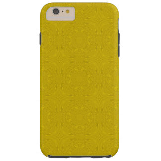 Gelbes abstraktes hölzernes Muster Tough iPhone 6 Plus Hülle