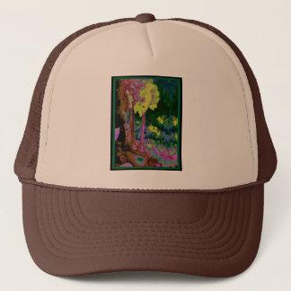 Gelbes Amaryllis Tapistry Kunst-Geschenk durch Truckerkappe