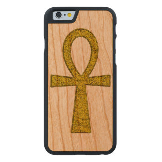 Gelbes Ankh Carved® iPhone 6 Hülle Kirsche