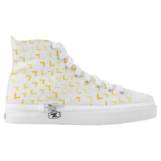 Gelbes Aquarellmuster Hoch-geschnittene Sneaker