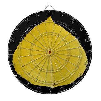 Gelbes Aspen-Blatt #5 Dartscheibe