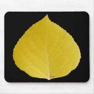Gelbes Aspen-Blatt #5 Mousepad