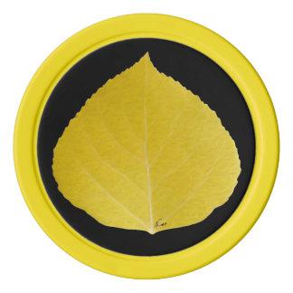 Gelbes Aspen-Blatt #5 Poker Chip Set