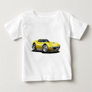 Gelbes Auto 1968-72 Korvette Baby T-shirt