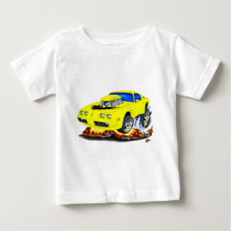 Gelbes Auto 1979-81 Transportes morgens Baby T-shirt