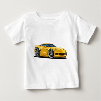 Gelbes Auto 2010-12 Korvette Baby T-shirt