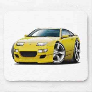 Gelbes Auto Nissans 300ZX Mousepad