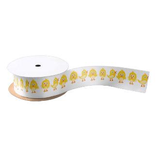 Gelbes Baby-Küken-Band Satinband