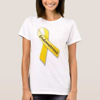 Gelbes Band für Endometriosis T-Shirt