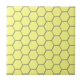 Gelbes Bienenwabenmuster Keramikfliese