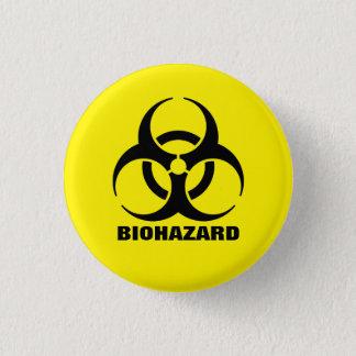 Gelbes Biogefährdung-Symbol-Warnzeichen Runder Button 2,5 Cm