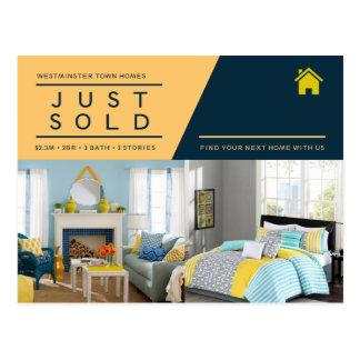 Gelbes Blau verkaufte gerade wirkliche Postkarte