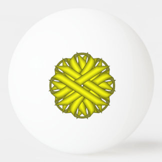 Gelbes Blumen-Band durch Kenneth Yoncich Tischtennis Ball