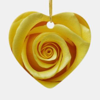 Gelbes Blumen Keramik Ornament